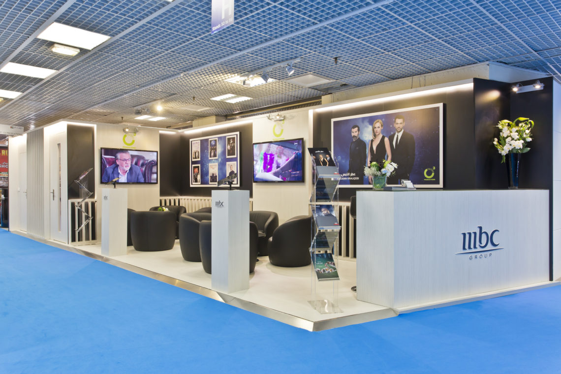 Custom-made stand Mbc@ Mipcom 2016